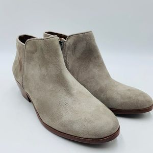 Sam Edelman gray side zip booties NEW W/ Defect